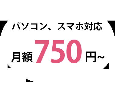 パソコンスマホ対応 月額750円~
